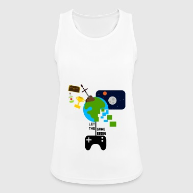 Lad Game Begin - sjov gamer t-shirt - Dame tanktop åndbar