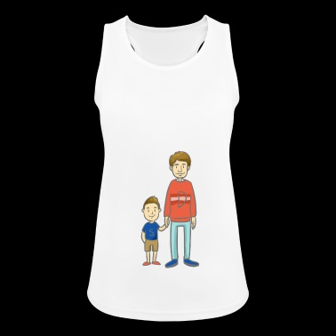 Son and Dad - son with dad - Women's Breathable Tank Top