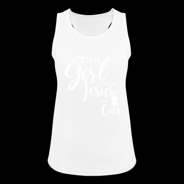 This Girl runs on Jesus and Cats - Women's Breathable Tank Top
