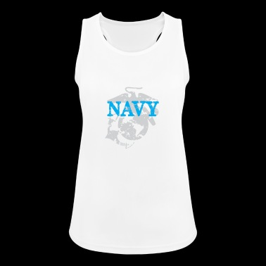 Navy Team - Frauen Tank Top atmungsaktiv