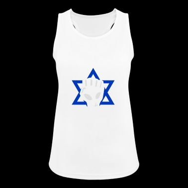 Israel Star of David fist - Women's Breathable Tank Top