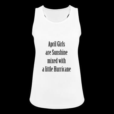 April Girls - Sunshine with a Little Hurricane - Women's Breathable Tank Top