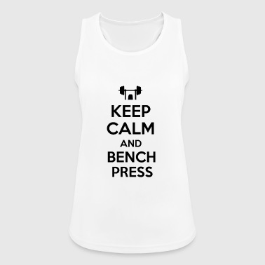Keep calm and bench press - Women's Breathable Tank Top