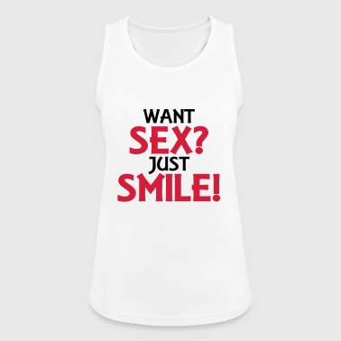 Want sex? Just smile! - Women's Breathable Tank Top