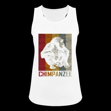 Monkey Chimpanzee Animal Zoo Retro Gave - Pustende singlet for kvinner
