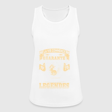1978 40 40th birthday gift legend FR - Women's Breathable Tank Top