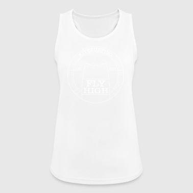 Kitesurfing Fly High Kiteboard white - Pustende singlet for kvinner