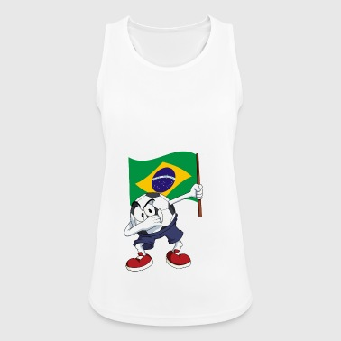 Brazil Dabbing football - Women's Breathable Tank Top