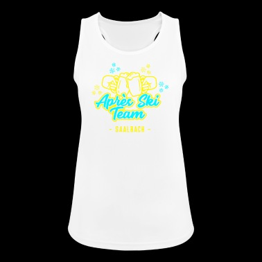 Après Ski Team Saalbach JGA Party Hut T-Shirt - Women's Breathable Tank Top