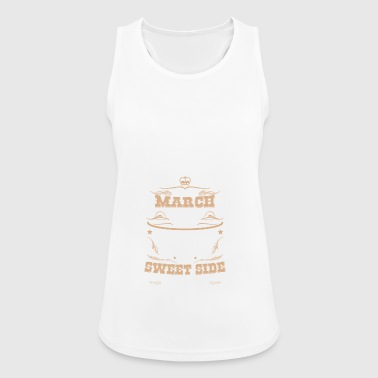 Birthday Saying Gift March Girlfriend Girl - Women's Breathable Tank Top