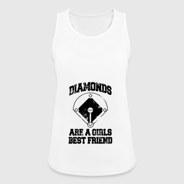 diamonds are a girls best friend - Women's Breathable Tank Top
