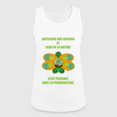 Ethics and Principles of Permaculture - Women's Breathable Tank Top