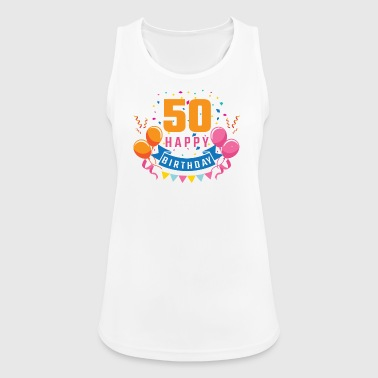 50th birthday 50 years Happy Birthday gift - Women's Breathable Tank Top