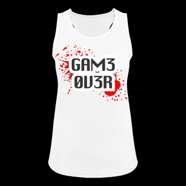 game over - Tank top damski oddychający