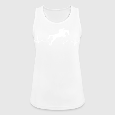 Heartbeat of a rider - show jumping - Women's Breathable Tank Top
