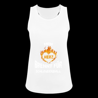 Gift T-shirt heart burns slingshot ball - Women's Breathable Tank Top