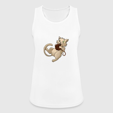 Cat wool ball of wool Kitty Animal Pets - Women's Breathable Tank Top