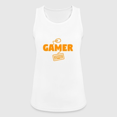 gamer - Pustende singlet for kvinner