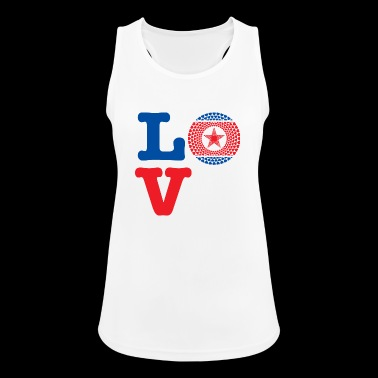 KOREA DEMO REP HEART - Women's Breathable Tank Top
