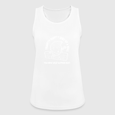 Donald Trump build a wall wall - Women's Breathable Tank Top