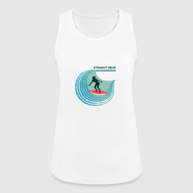 Straight Edge Surfergirl (light background) - Women's Breathable Tank Top