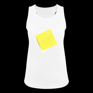 yellow sticky note, sticky note, sticky note - Women's Breathable Tank Top