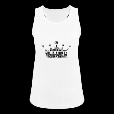 she is a queen She is a queen crown - Women's Breathable Tank Top
