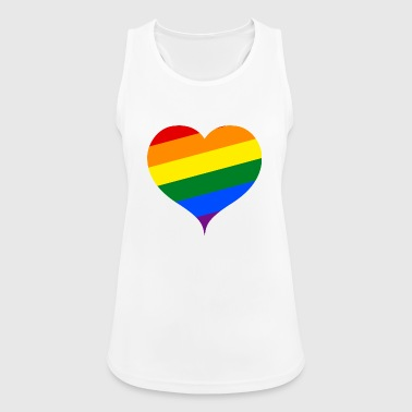 LGBT PRIDE heart - Women's Breathable Tank Top