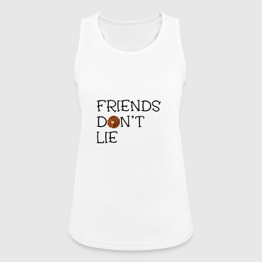 Friends Don't Lie With Waffle Novelty Graphic - Women's Breathable Tank Top