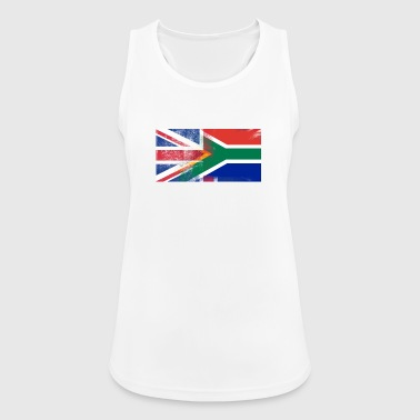 British South African Half South Africa Half UK Fl - Women's Breathable Tank Top