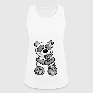 Panda bear with baby - children - family - Women's Breathable Tank Top