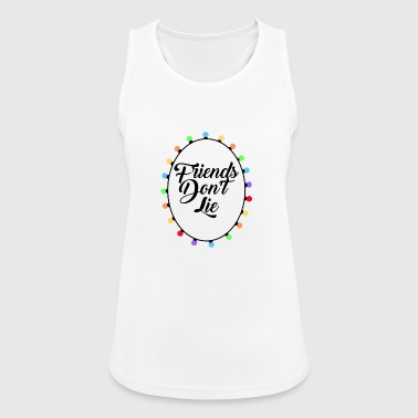 Friends Don't Lie Lights Funny Graphic Novelty - Women's Breathable Tank Top