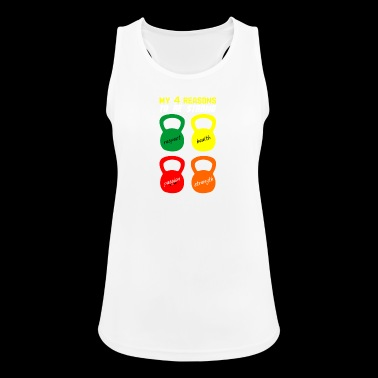 4 reasons to be strong - Women's Breathable Tank Top
