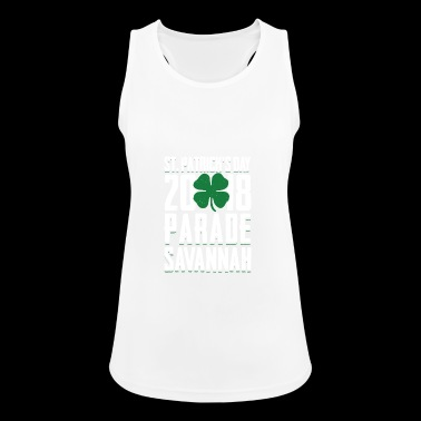 St. Patricks Tag 2018 Parade Savannah Clover - Frauen Tank Top atmungsaktiv