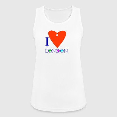 I Love London B - Women's Breathable Tank Top