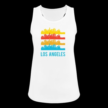 Pop Art / Graphic Novel: Los Angeles Skyline - Naisten tekninen tankkitoppi