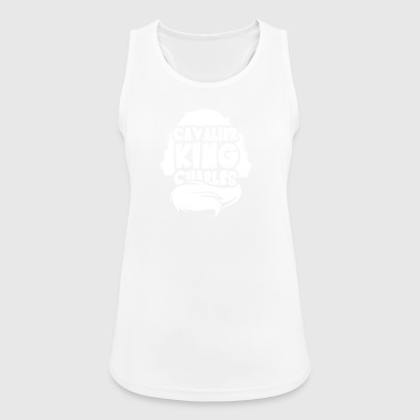 Silhouette Cavalier King Charles - Women's Breathable Tank Top