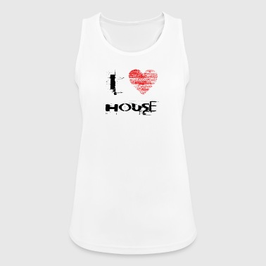 I love minimal techno House rave - Women's Breathable Tank Top