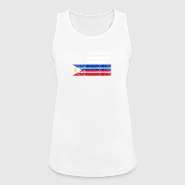 Filipino American Flag - USA Philippines Shirt - Women's Breathable Tank Top