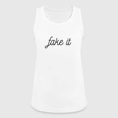 FAKE IT - Pustende singlet for kvinner