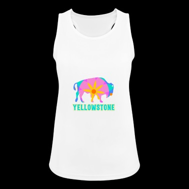 Yellowstone Bison Mandala Art Wildlife Recreation - Women's Breathable Tank Top
