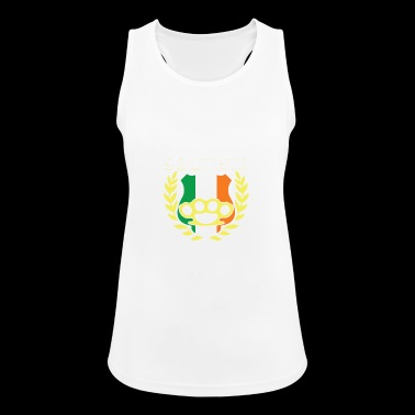 Southie Brass Knuckle Irish Flag St Patricks Day - Women's Breathable Tank Top