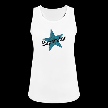 Superstar schwarz - Frauen Tank Top atmungsaktiv