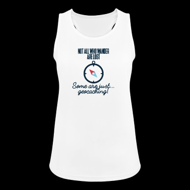 Geocaching, geocache, GPS, hiking, nerd - Women's Breathable Tank Top