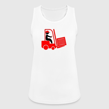 A Forklift Transporting A Box - Women's Breathable Tank Top
