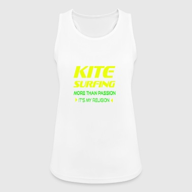 KITESURFING MORE THAN PASSION - ITS MY RELIGION - Women's Breathable Tank Top