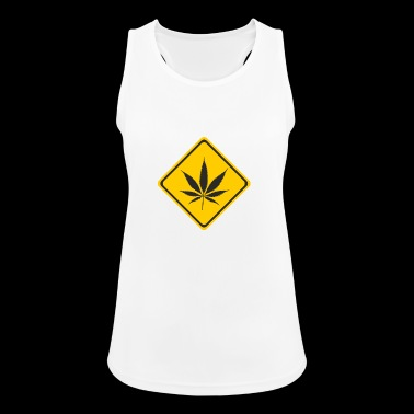 cannabis - Pustende singlet for kvinner