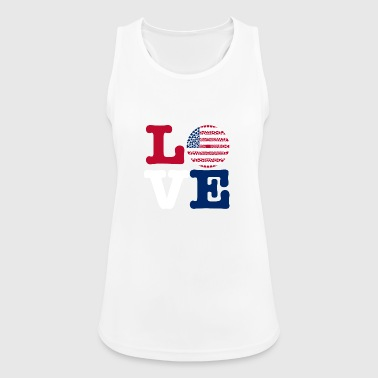 USA HEART - Women's Breathable Tank Top