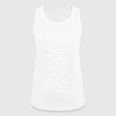 United States of America United States of America states - Women's Breathable Tank Top