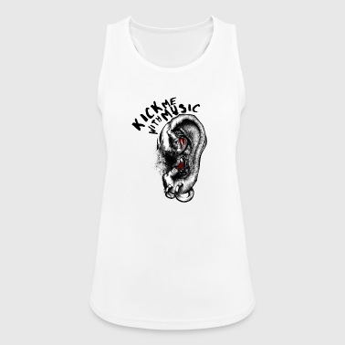 Kick me with Music - Women's Breathable Tank Top